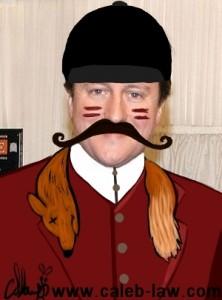 David Cameron Fox Hunting Political Cartoon