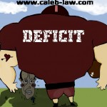 Prime Minister David Cameron Vows to Tackle the Deficit Political Cartoon