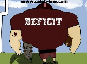 David Cameron Prime Minister Tackles the Deficit Political Cartoon