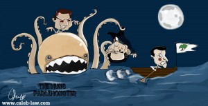 Election-2010 The Hung Parlimonster Political Cartoon