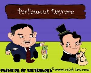 Gordon Brown and George Osborne Political Cartoon