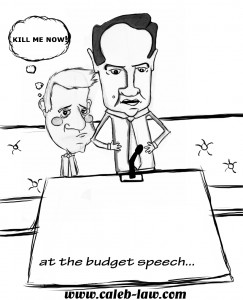 Nick Clegg Bored at Budget Speech
