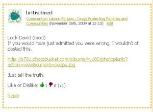 Fake BNP Comment