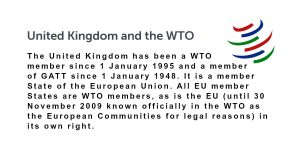 Is the UK a Member of the WTO?