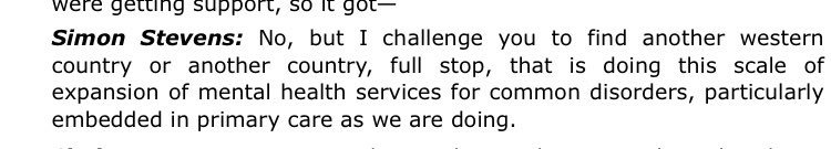Simon Stevens Mental Health Services Quote