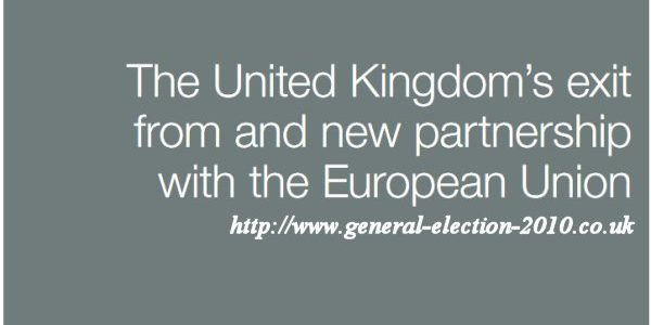 The United Kingdom's Exit from and new Partnership with the European Union