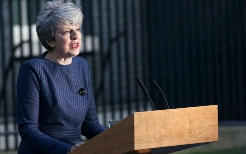 UK General election 2017 - Theresa May Outside Number 10 Downing Street April 18th