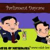 Political Cartoon Gordon Brown and George Osborne in Daycare